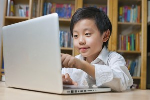 Online young student